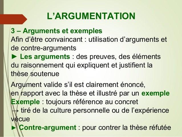Essentiel sur l'argumentation