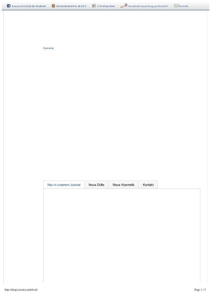 EssenzaNobile®bei facebook           Versandkostenfrei ab 50 €        3 Gratisproben      Geschenkverpackunggewünscht...