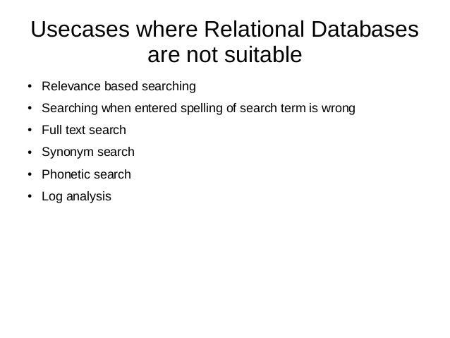 Elasticsearch V/s Relational Database