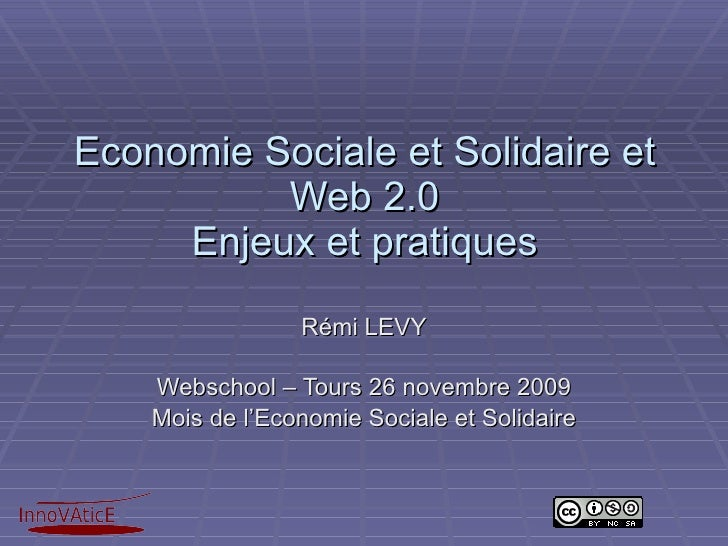 Economie Sociale et Solidaire et Web 2.0 : enjeux et pratiques