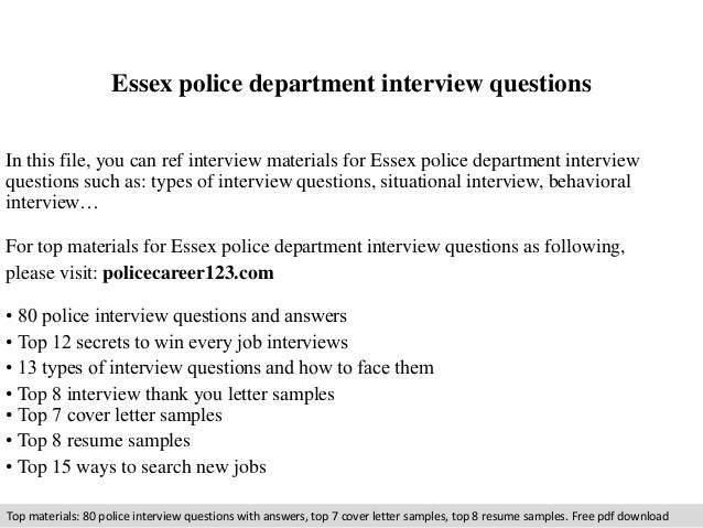 Essex police department interview questions 1 638gcb1410285088 essex police department interview questions in this file you can ref interview materials for essex spiritdancerdesigns Images