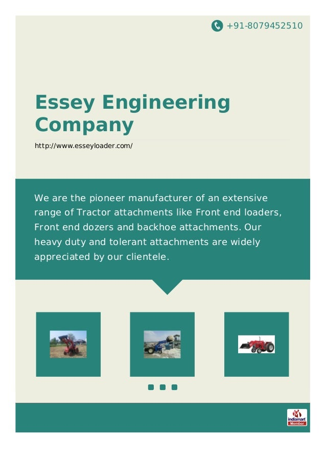 +91-8079452510 Essey Engineering Company http://www.esseyloader.com/ We are the pioneer manufacturer of an extensive range...