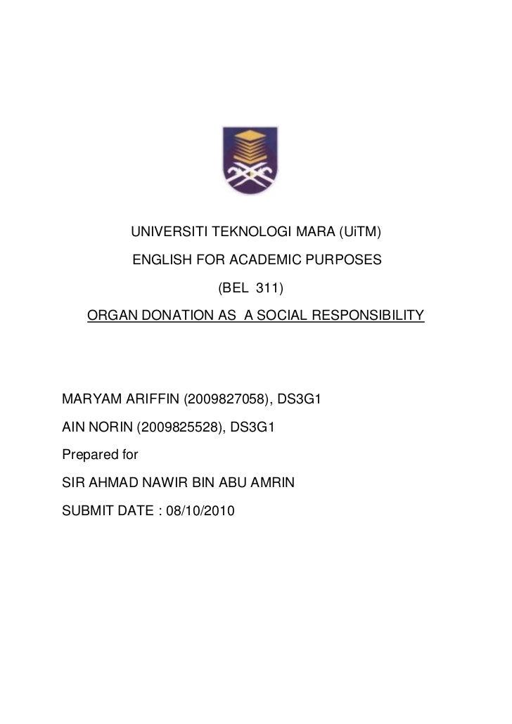 organ donation at malaysia for presentation Associate prof dr associate prof dr ng kok peng, kokpeng  tumin, m et al 2014 low organ donation rate in malaysia:  presentation.