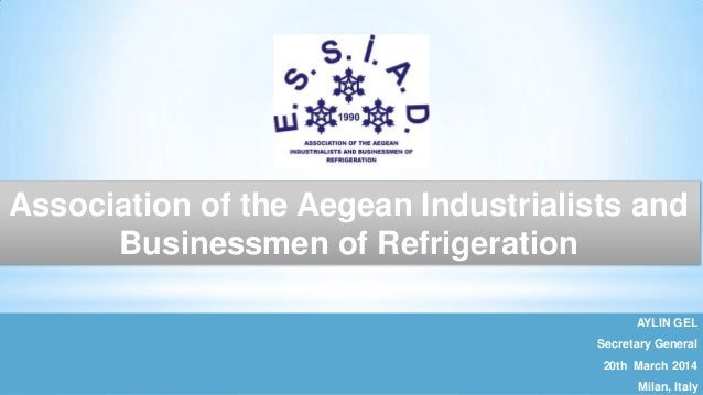 1 1 AYLIN GEL Secretary General 20th March 2014 Milan, Italy Association of the Aegean Industrialists and Businessmen of R...