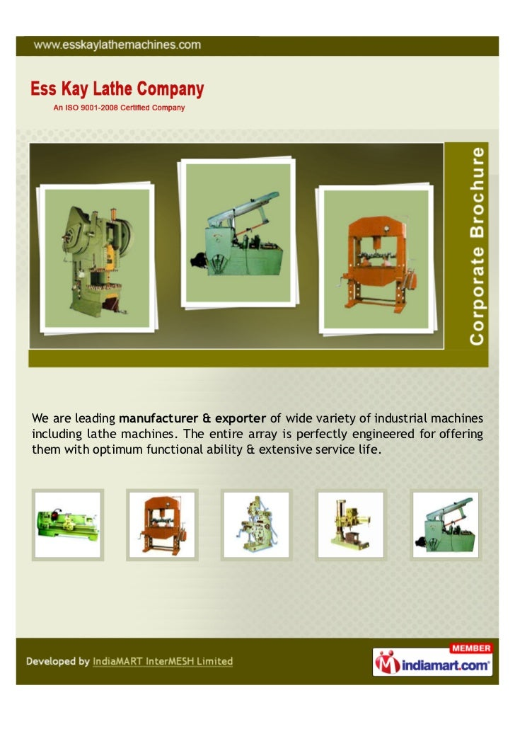 We are leading manufacturer & exporter of wide variety of industrial machinesincluding lathe machines. The entire array is...