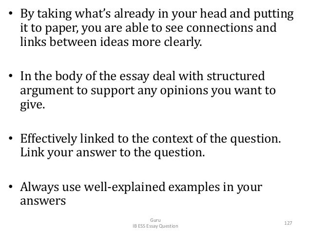 • By taking what's already in your head and putting it to paper, you are able to see connections and links between ideas m...