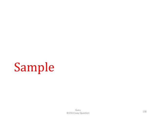 Sample Guru IB ESS Essay Question 130