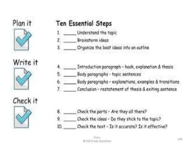 Guru IB ESS Essay Question 144