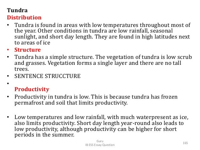 Tundra Distribution • Tundra is found in areas with low temperatures throughout most of the year. Other conditions in tund...