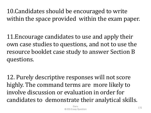 10.Candidates should be encouraged to write within the space provided within the exam paper. 11.Encourage candidates to us...