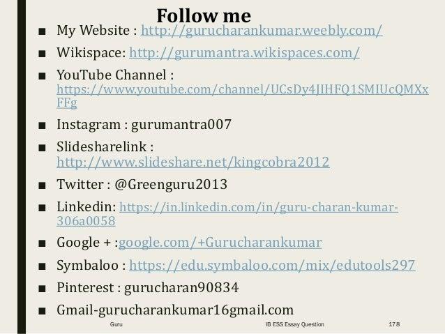 ■ My Website : http://gurucharankumar.weebly.com/ ■ Wikispace: http://gurumantra.wikispaces.com/ ■ YouTube Channel : https...