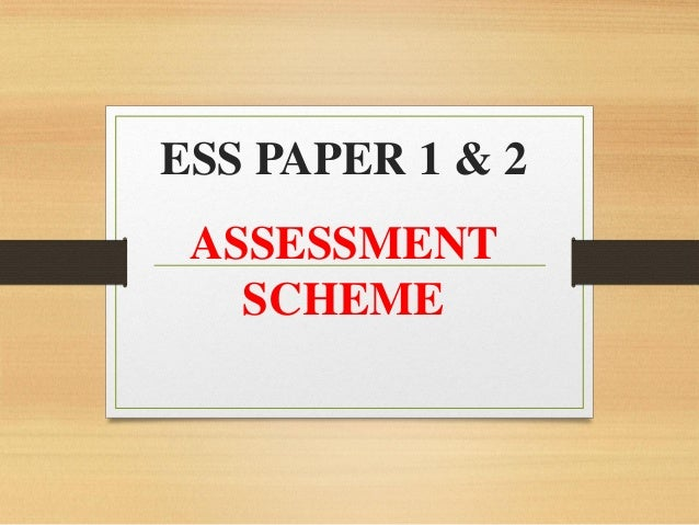 how to write ess essay questions in paper first exam  ess paper 1 2 assessment scheme