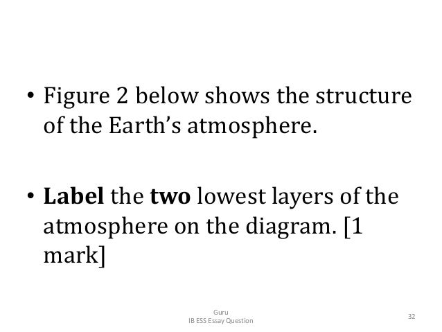 • Figure 2 below shows the structure of the Earth's atmosphere. • Label the two lowest layers of the atmosphere on the dia...