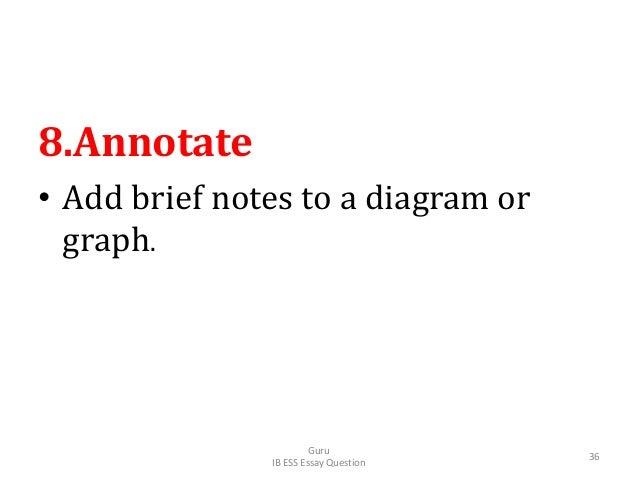 8.Annotate • Add brief notes to a diagram or graph. Guru IB ESS Essay Question 36