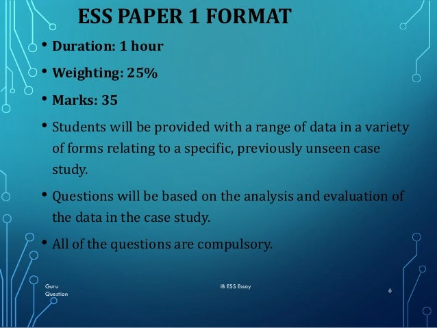 how to write ess essay questions in paper first exam  guru ib ess essay question 5 6
