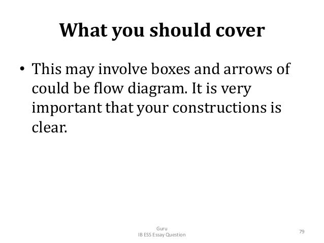 What you should cover • This may involve boxes and arrows of could be flow diagram. It is very important that your constru...