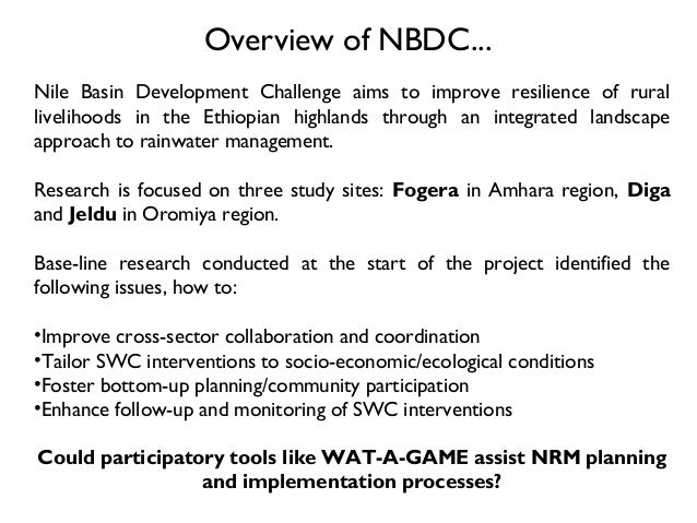 participatory nrm The paper provides case studies that reveal the policy and institutional hurdles in implementing local and participatory natural resources management programmes the lessons and experiences amongst lgu's in linking good governance with nrm the research and development activities on local and participatory nrm.