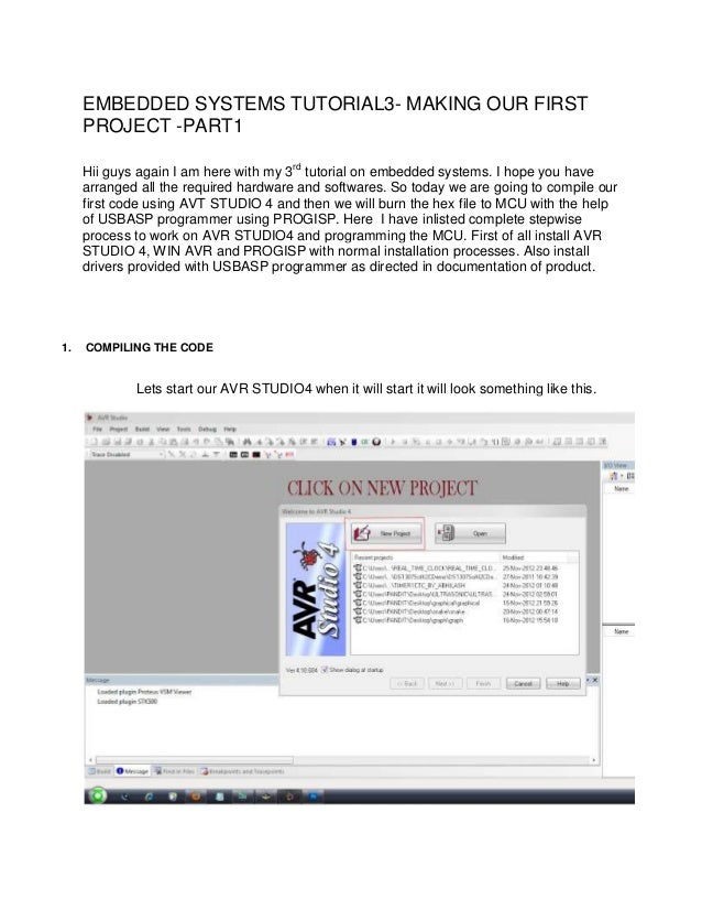 EMBEDDED SYSTEMS TUTORIAL3- MAKING OUR FIRST PROJECT -PART1 Hii guys again I am here with my 3rd tutorial on embedded syst...