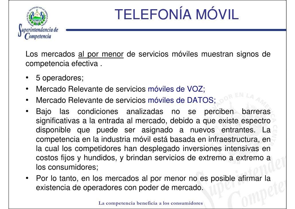 ae338eca6cb V. TELEFONÍA MÓVIL La competencia beneficia a los consumidores; 13.