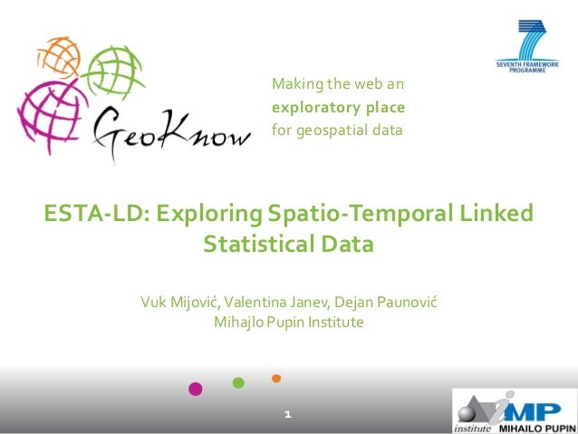 Making the web an exploratory place for geospatial data 1 ESTA-LD: Exploring Spatio-Temporal Linked Statistical Data Vuk M...