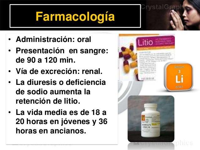Farmacología • Administración: oral • Presentación en sangre: de 90 a 120 min. • Vía de excreción: renal. • La diuresis o ...
