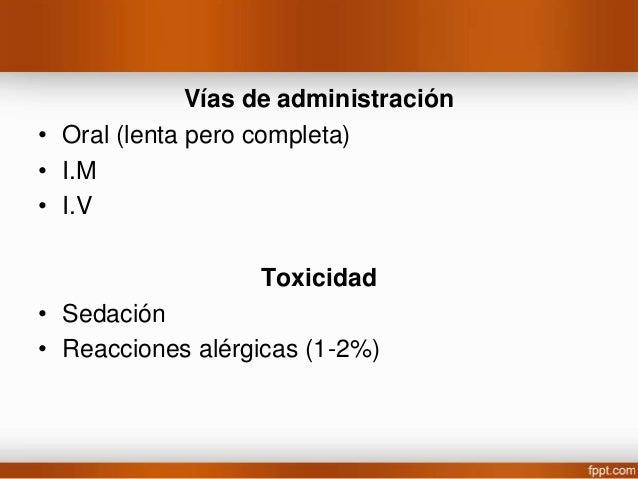 Dosis • Adulto 200 mg/dia hasta 600-1200 mg • Niños 20-30 mg/kg al día. Aplicaciones terapéuticas: • Para convulsiones tón...