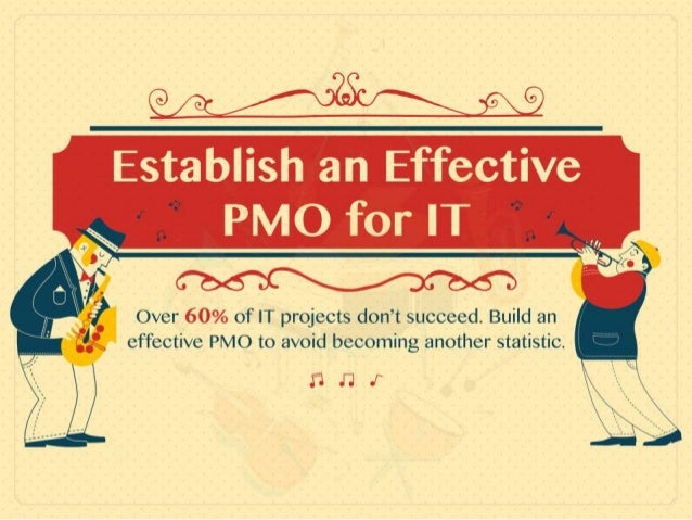 Establish an Effective PMO for IT Over 60% of IT projects don't succeed – build an effective PMO to avoid becoming another...