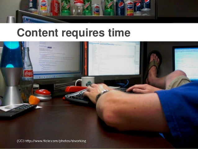 @mbloomstein   #HOWLive 8 © 2014 Because we all want the same thing, but content keeps getting in the way. Content require...