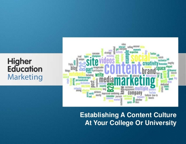 Establishing a Content Culture at Your College or University Slide 1 Establishing A Content Culture At Your College Or Uni...