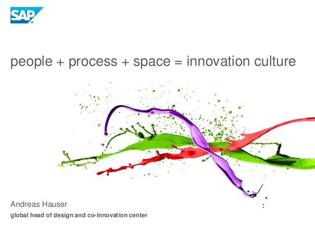 Andreas Hauser global head of design and co-innovation center people + process + space = innovation culture