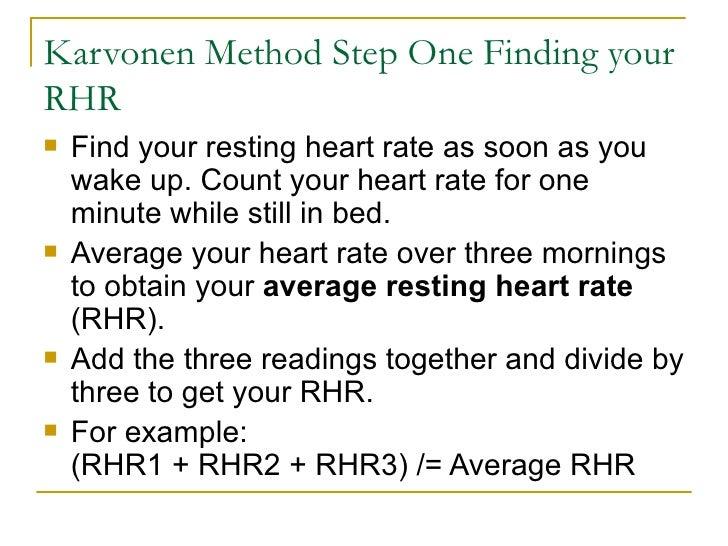 Establishing Target Thr Resting Heart Rhr