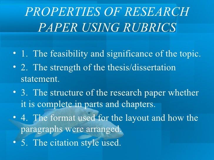 Establishing a thesis statement