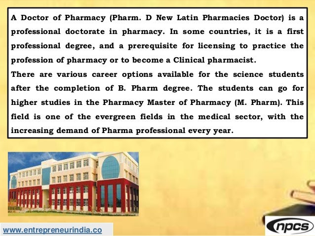 Establishment of new Pharmacy college (B-pharma and D-pharma) Slide 3