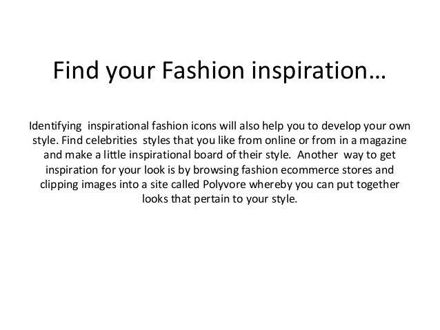 Establish Your Own Fashion Style