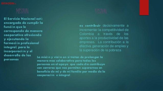 ESTACION 2 El Servicio Nacional está encargado de cumplir la función que le corresponde de manera cooperativa ofreciendo y...