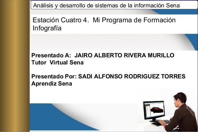 Análisis y desarrollo de sistemas de la información Sena Presentado A: JAIRO ALBERTO RIVERA MURILLO Tutor Virtual Sena Pre...