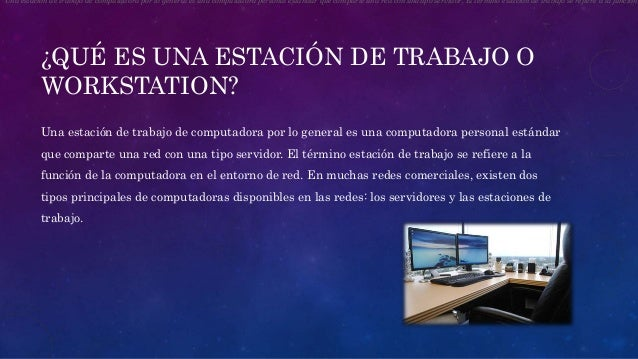 Estaciones de trabajo o workstation for Estacion de trabajo
