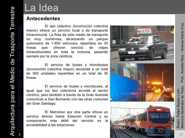 Estacion Intermodal San Bernardo Memoria