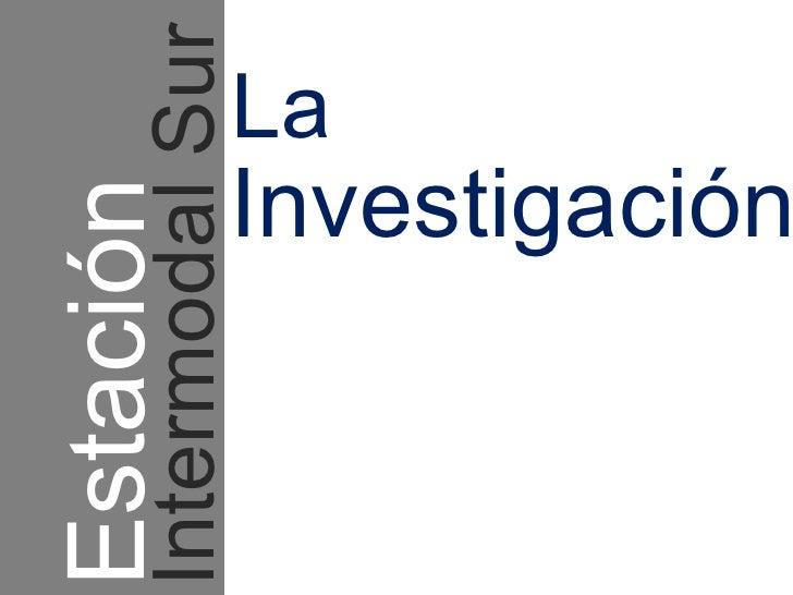 Estacion intermodal san bernardo memoria for Lo espejo 03450 san bernardo