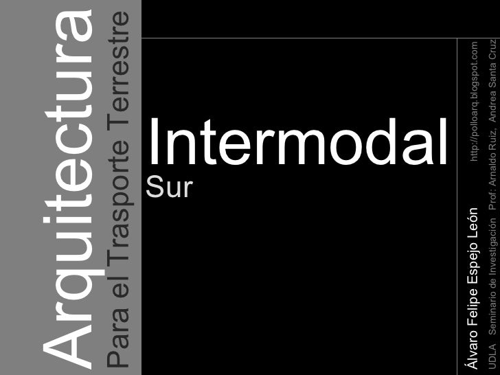 Arquitectura   Álvaro Felipe Espejo León   http://polloarq.blogspot.com UDLA  Seminario de Investigación  Prof: Arnaldo Ru...