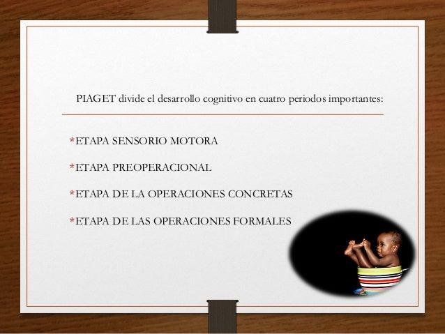 *ETAPA SENSORIO MOTORA *ETAPA PREOPERACIONAL *ETAPA DE LA OPERACIONES CONCRETAS *ETAPA DE LAS OPERACIONES FORMALES PIAGET ...