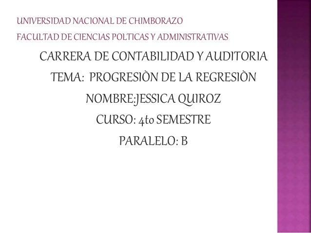 UNIVERSIDAD NACIONAL DE CHIMBORAZO FACULTAD DE CIENCIAS POLTICAS Y ADMINISTRATIVAS CARRERA DE CONTABILIDAD Y AUDITORIA TEM...