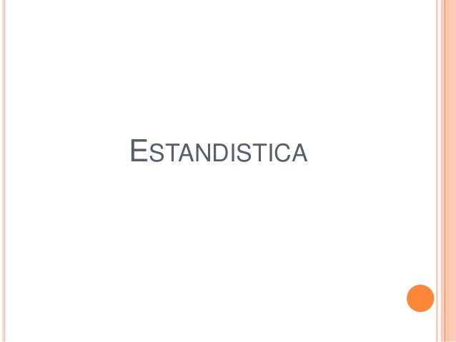 ESTANDISTICA