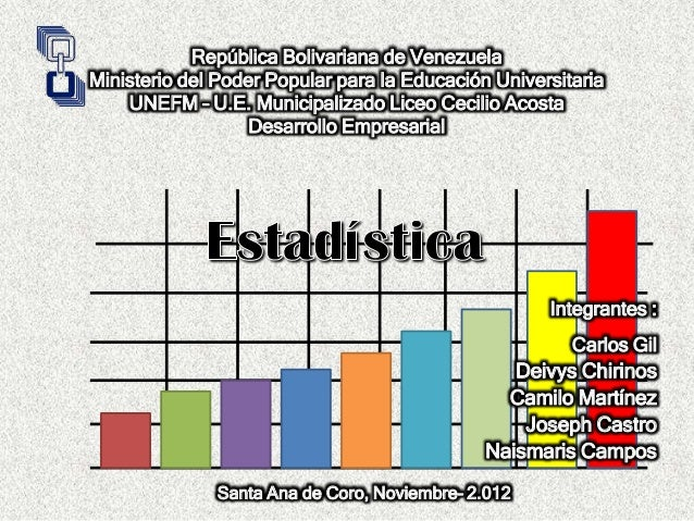 República Bolivariana de VenezuelaMinisterio del Poder Popular para la Educación Universitaria    UNEFM – U.E. Municipaliz...