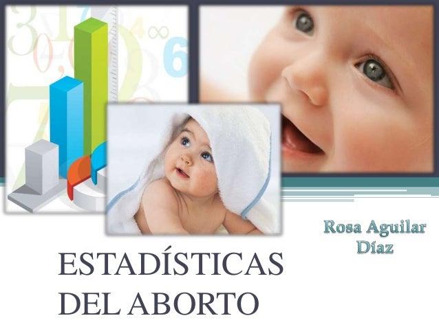 ESTADÍSTICASDEL ABORTO
