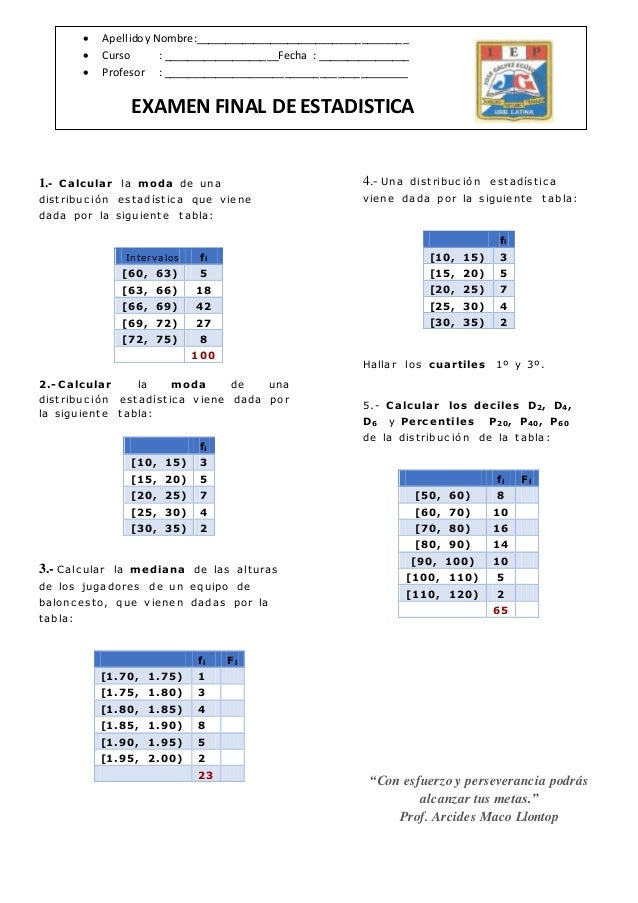 Calcular la moda de una distribución estadística que viene dada por la siguiente tabla