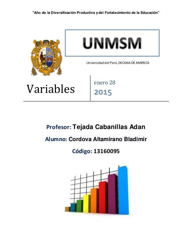 """""""Año de la Diversificación Productiva y del Fortalecimiento de la Educación"""" Profesor: Tejada Cabanillas Adan Alumno: Cord..."""
