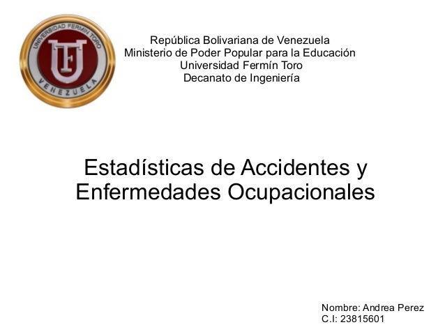 República Bolivariana de Venezuela Ministerio de Poder Popular para la Educación Universidad Fermín Toro Decanato de Ingen...