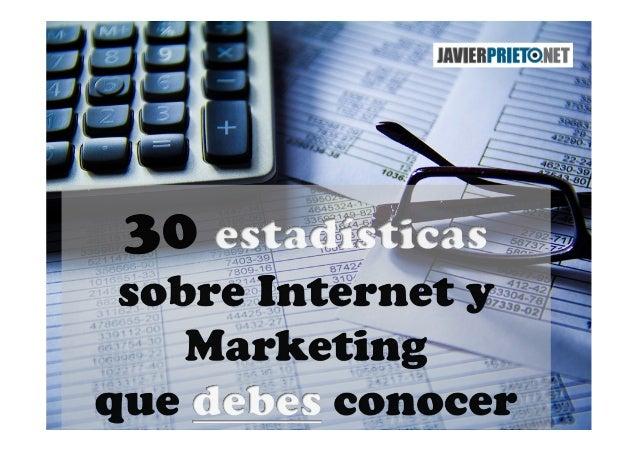 Ideas traducidas del post http://www.blog-growth.com/36-useful- internet-marketing-statistics/