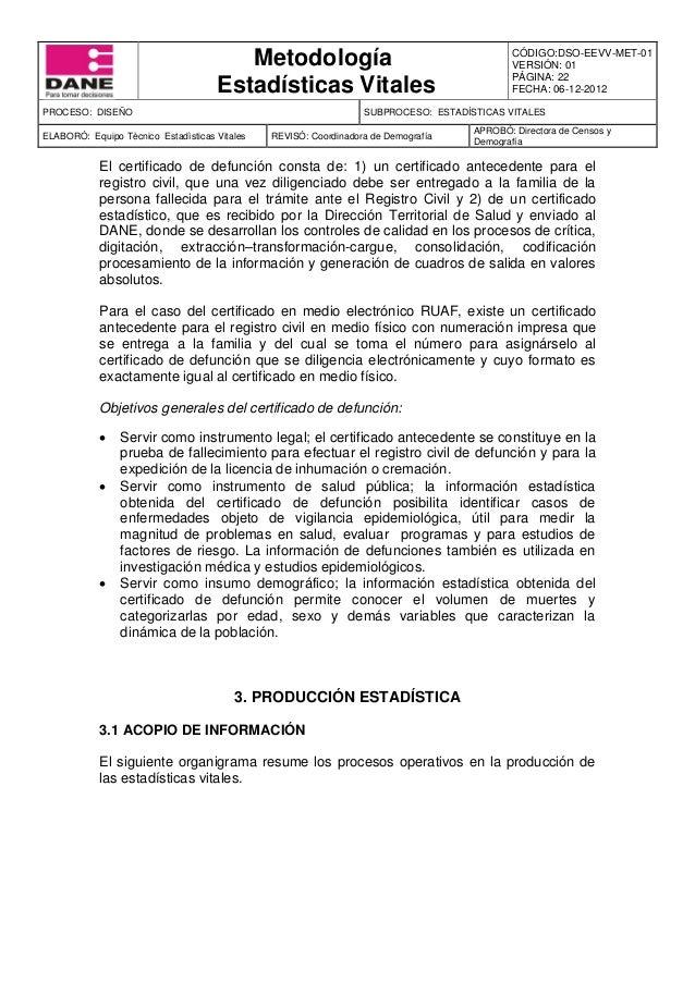 Único Departamento De Partida De Nacimiento Estadísticas Vitales De ...
